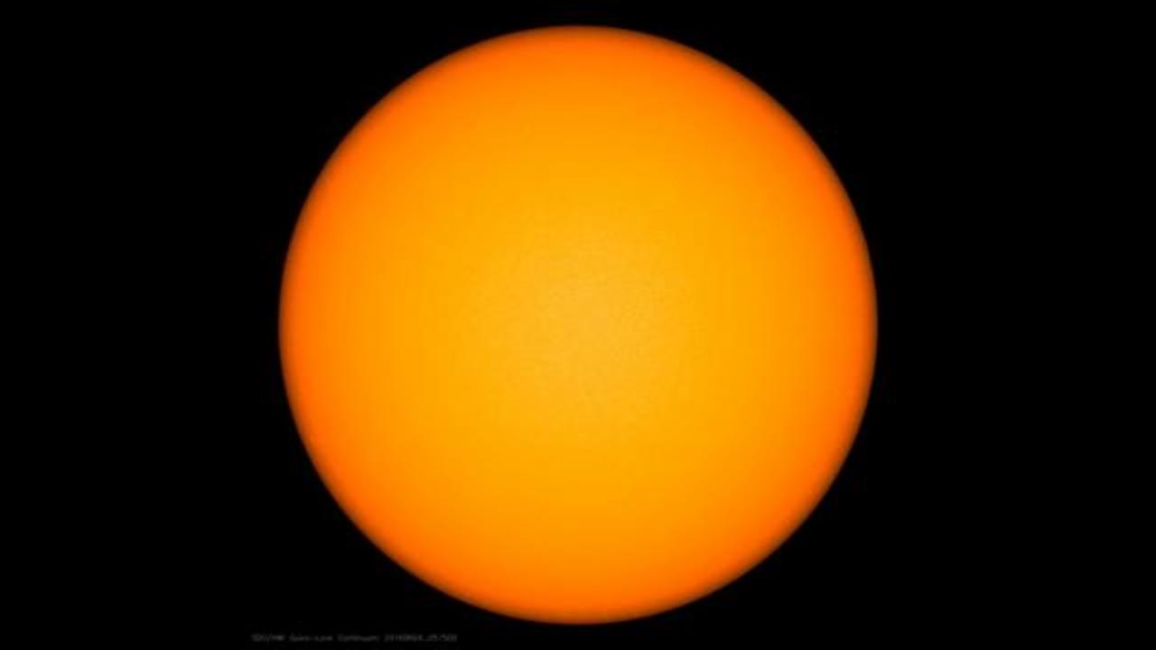 Sun's Eerie Spot-Free Appearance Indicates Beginning Of Solar Minimum