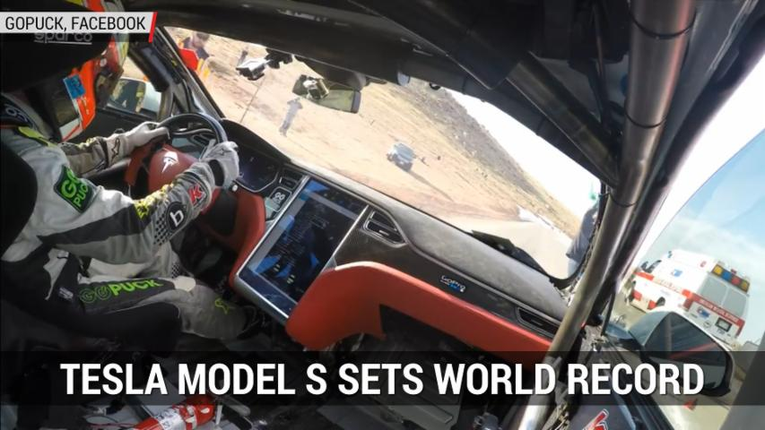 Tesla Model S Sets World Record At Pikes Peak | Autoblog Minute