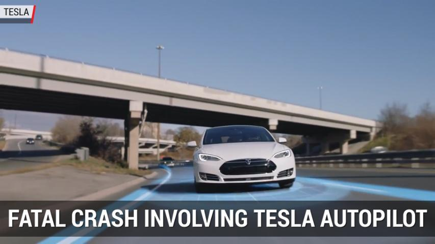 Tesla Autopilot Involved In Fatal Crash | Autoblog Minute
