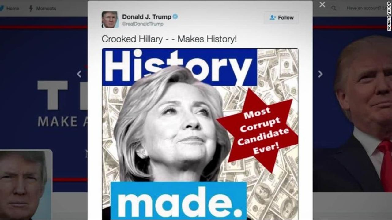 Trump deletes tweet attacking Hillary after complaints of anti-Semitic imagery