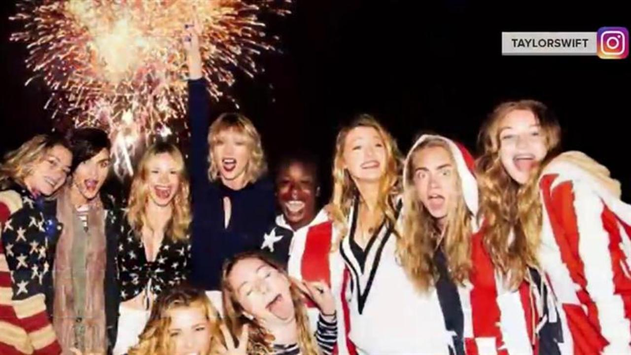 How Taylor Swift, Miley Cyrus and other stars celebrated the Fourth