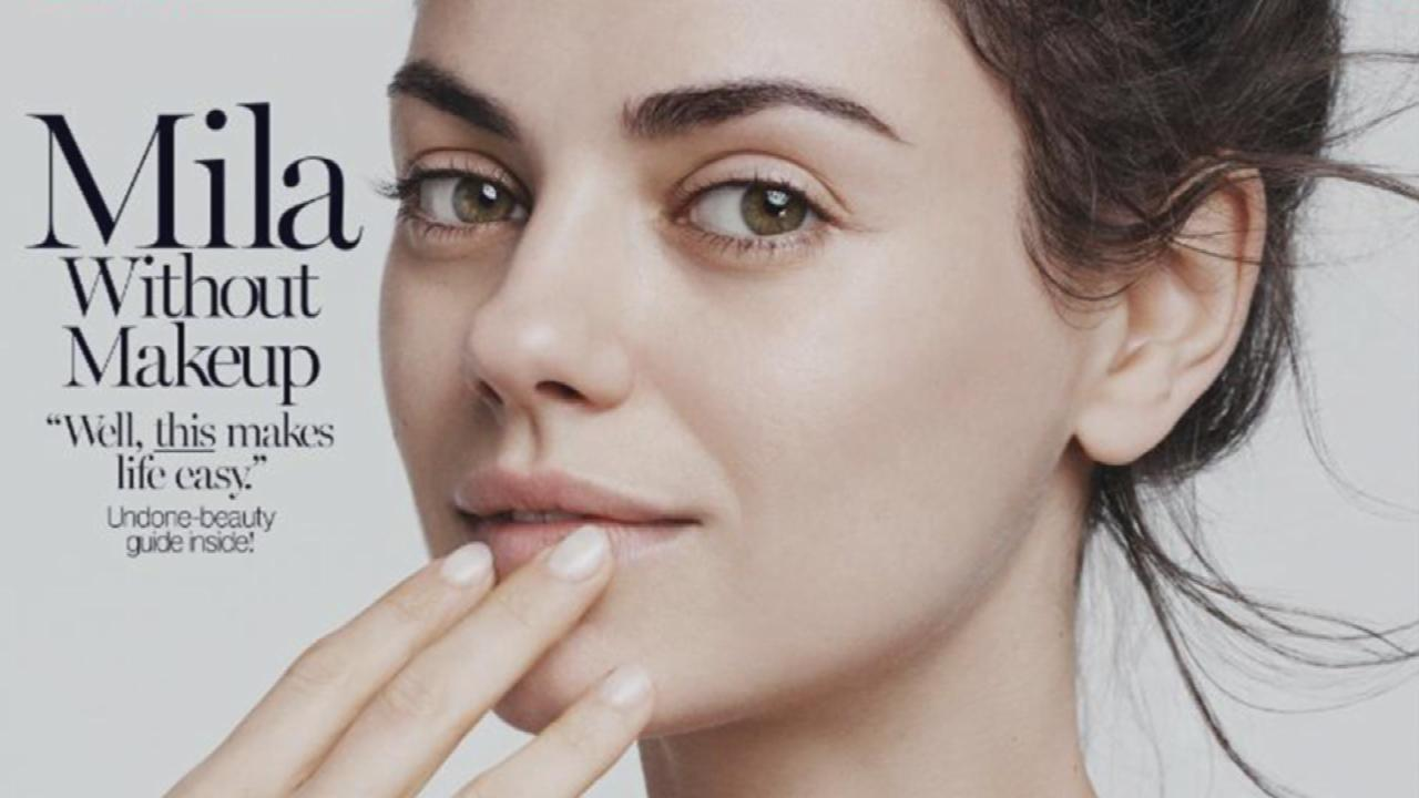 "Mila Kunis Goes Makeup-Free For ""Glamour"""