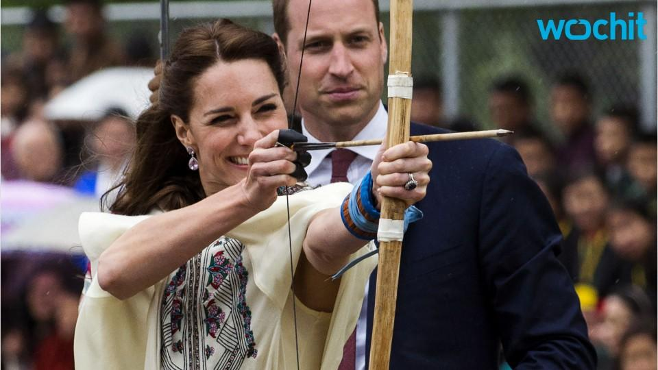 Kate Middleton Seems To Be Flying In Photo