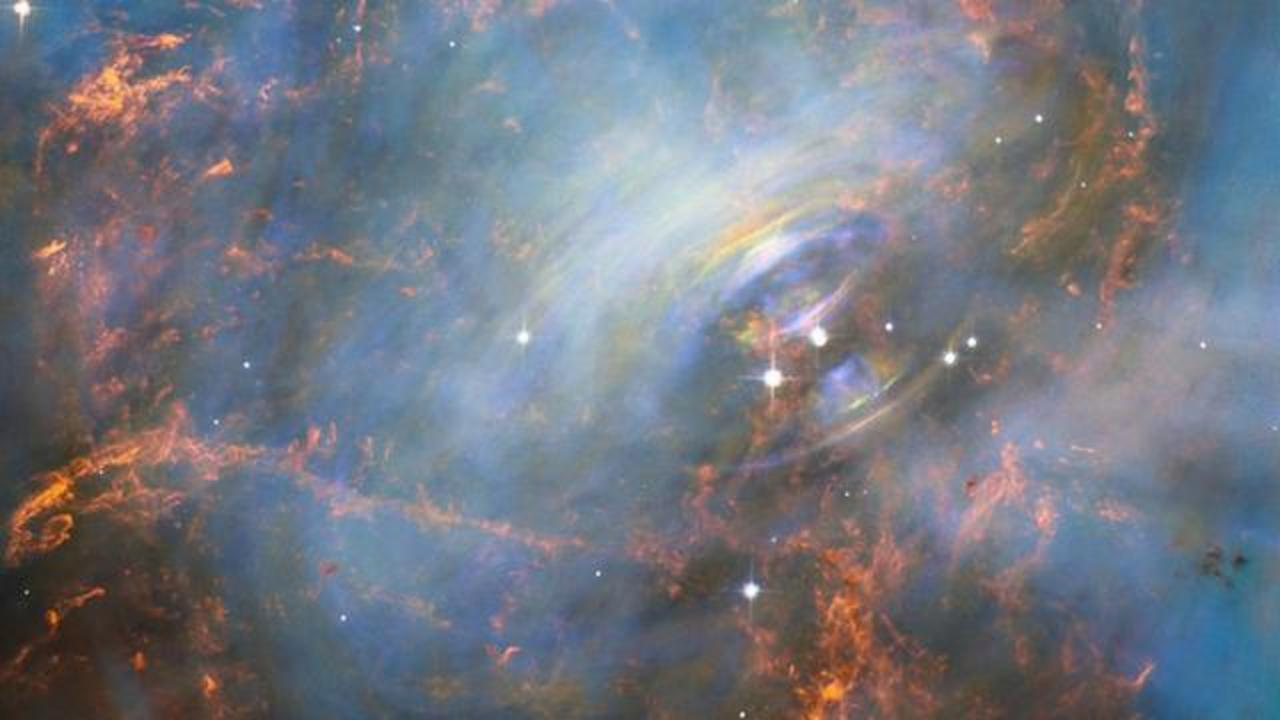 Hubble Takes A Close-Up Of The Crab Nebula's Beating Heart