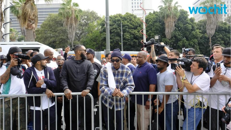 Snoop Dogg And the Game Lead March to LAPD Headquarters Of Graduating Officers