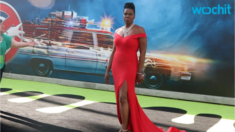 Leslie Jones Head-Turning Red Gown At Ghostbusters Premiere