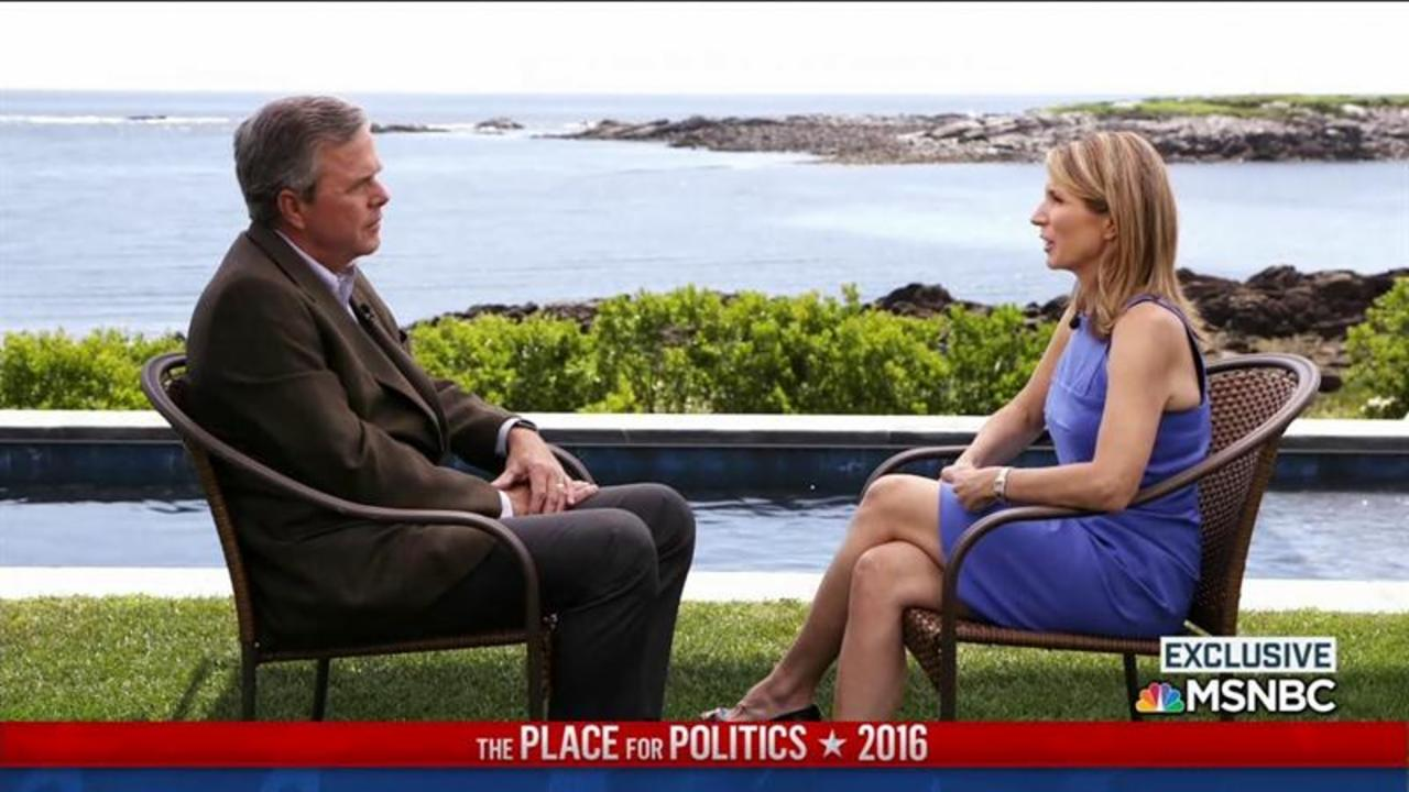 Jeb Bush on Voting in 2016: 'I Can't Do It'