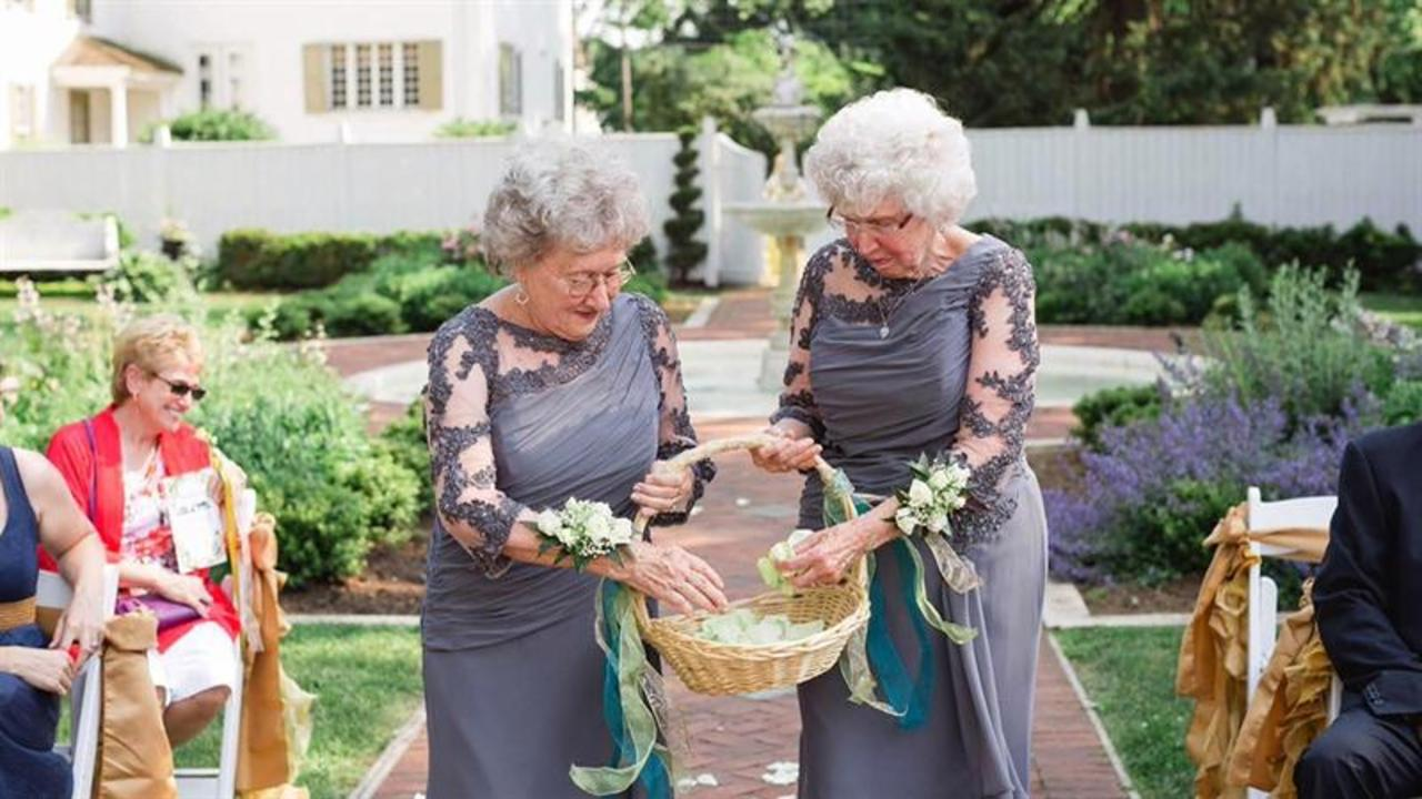 See how these grandmas rocked a wedding - as flower girls!