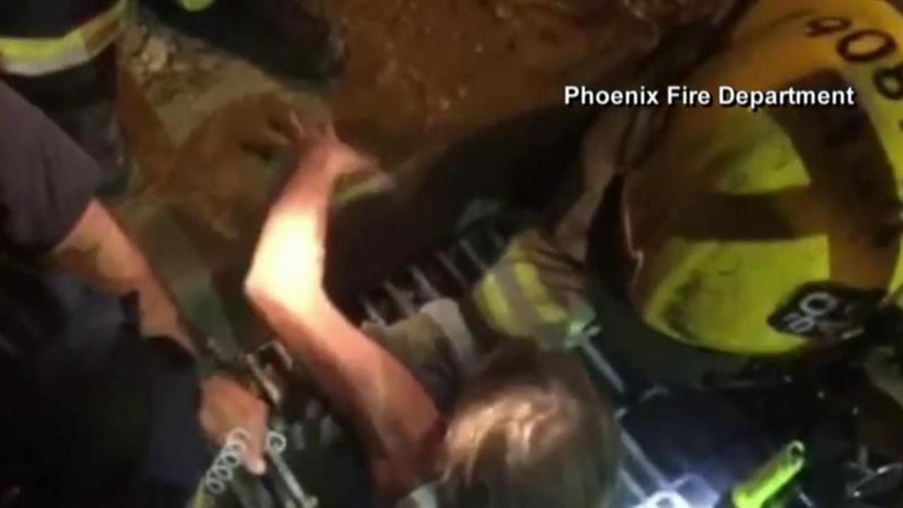 Good Samaritans rescued from storm drain after attempting to save puppy