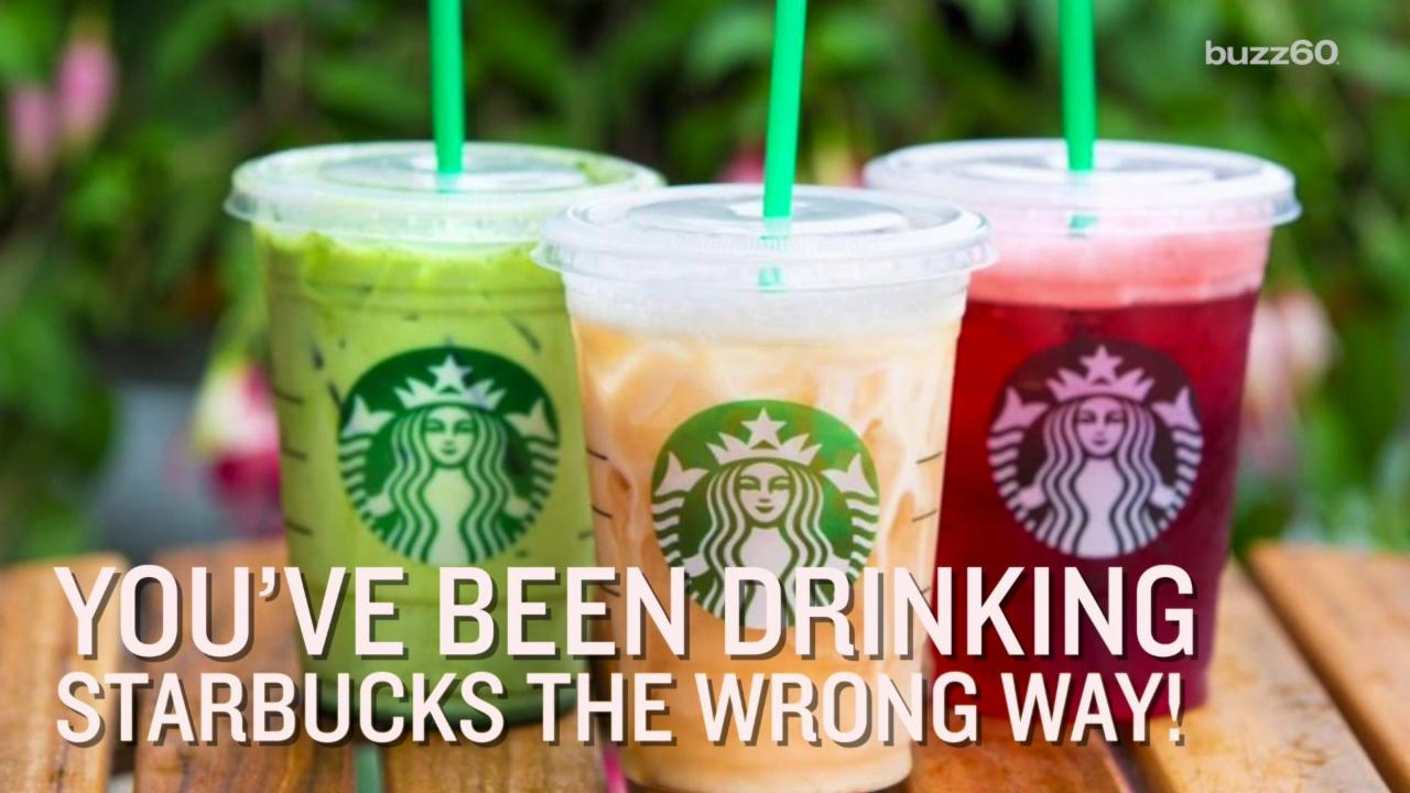 You've Been Drinking Starbucks the Wrong Way
