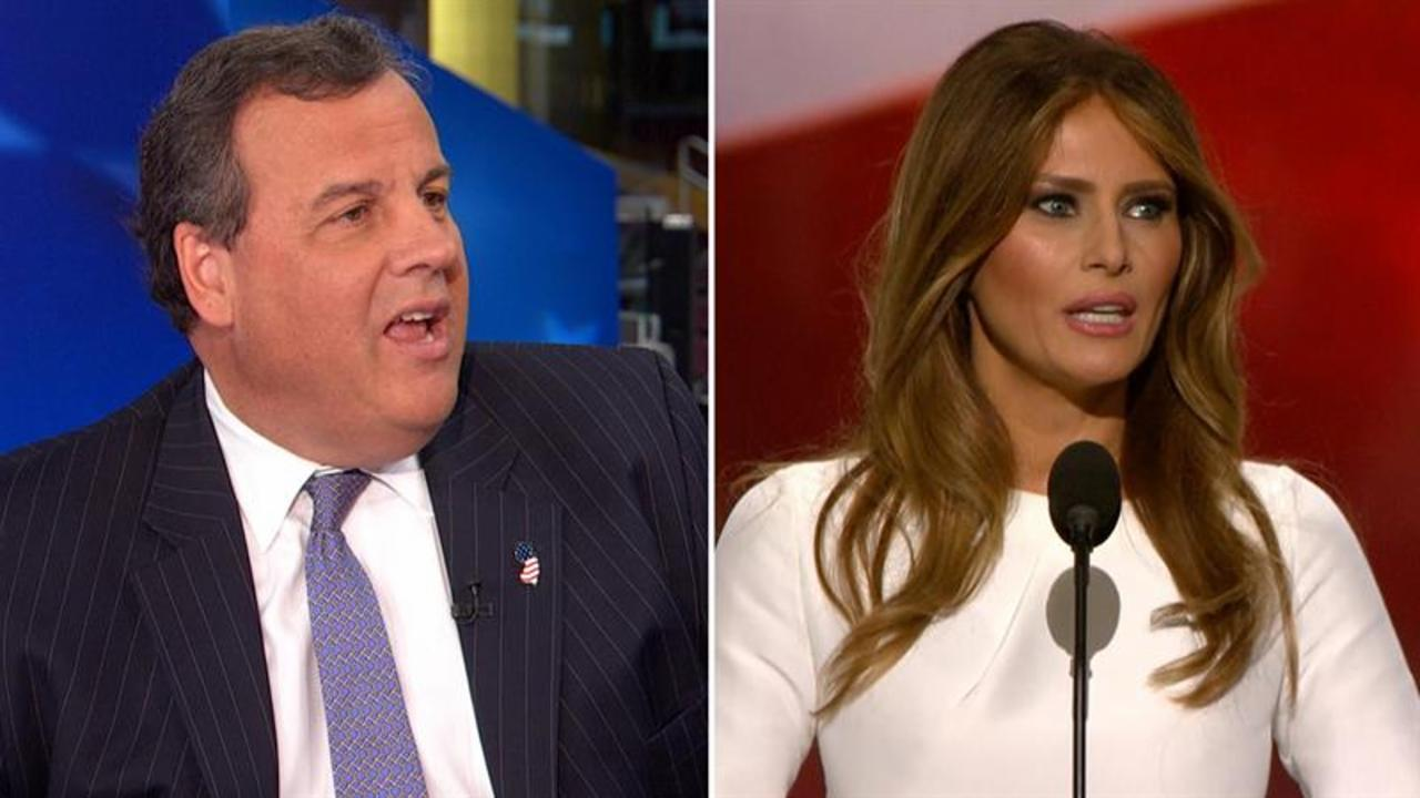 Chris Christie: 93 percent of Melania's speech was different from Michelle's
