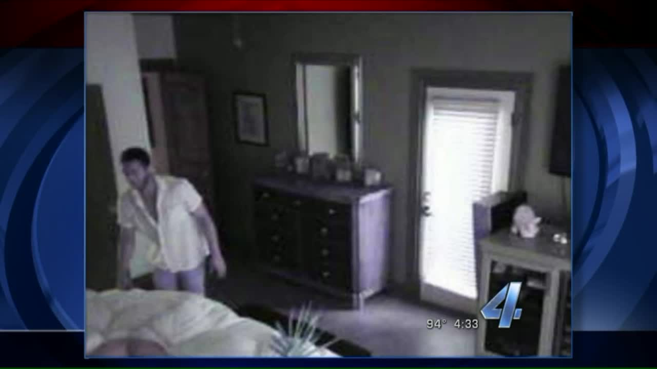 Security Cameras Record Man Breaking Into Home, Watching Sleeping Owner