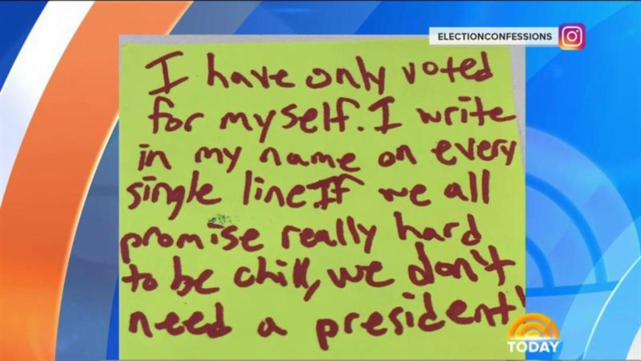 Election Confessions: 'I Have Only Voted for Myself'