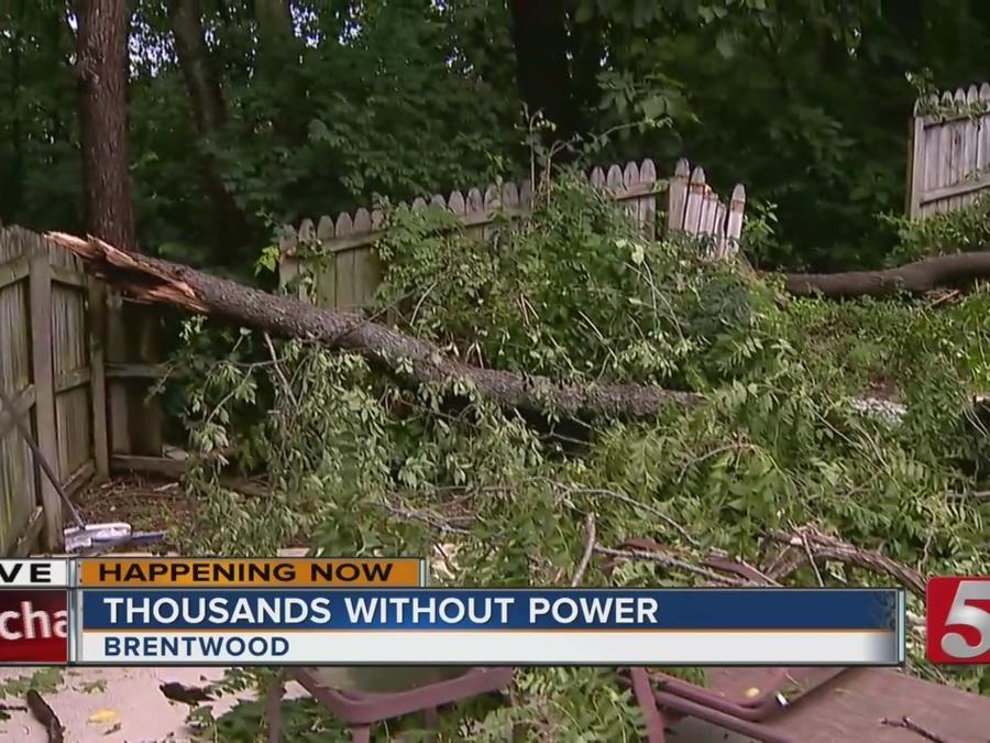 Microburst Knocks Out Power In Brentwood Neighborhood