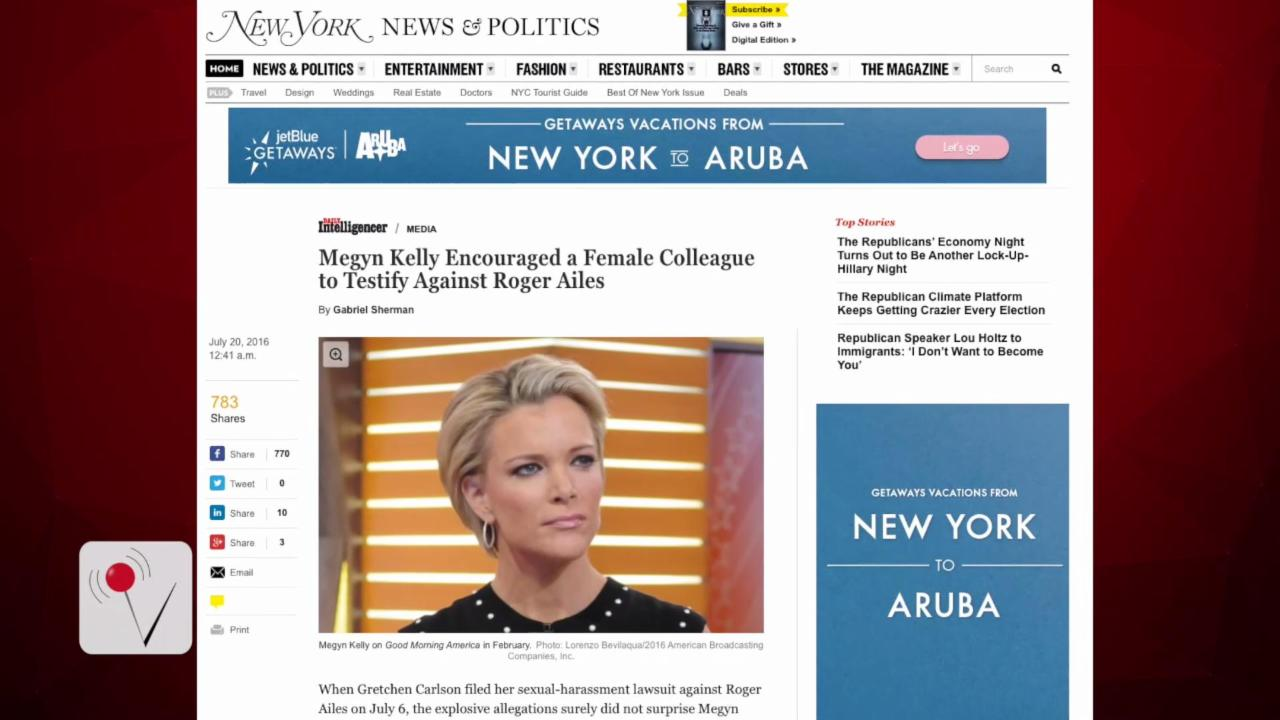 Megyn Kelly Reportedly Leading Sexual Harassment Charge Against Roger Ailes