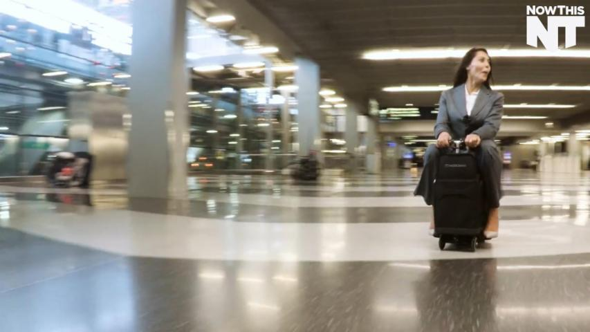 'Modobag' Lets You Ride Your Luggage Around The Airport