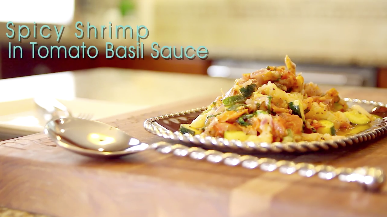 Spicy Shrimp Tomato Basil