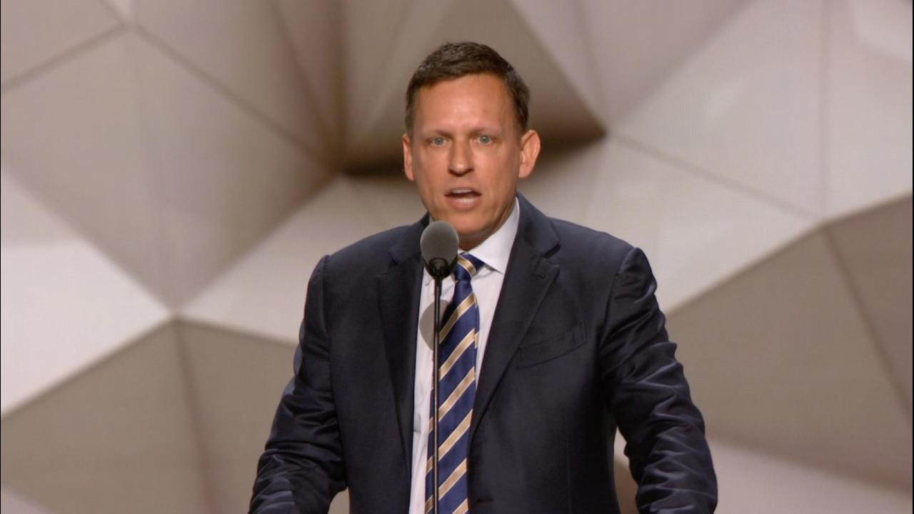 Thiel says he's proud to be gay and Republican