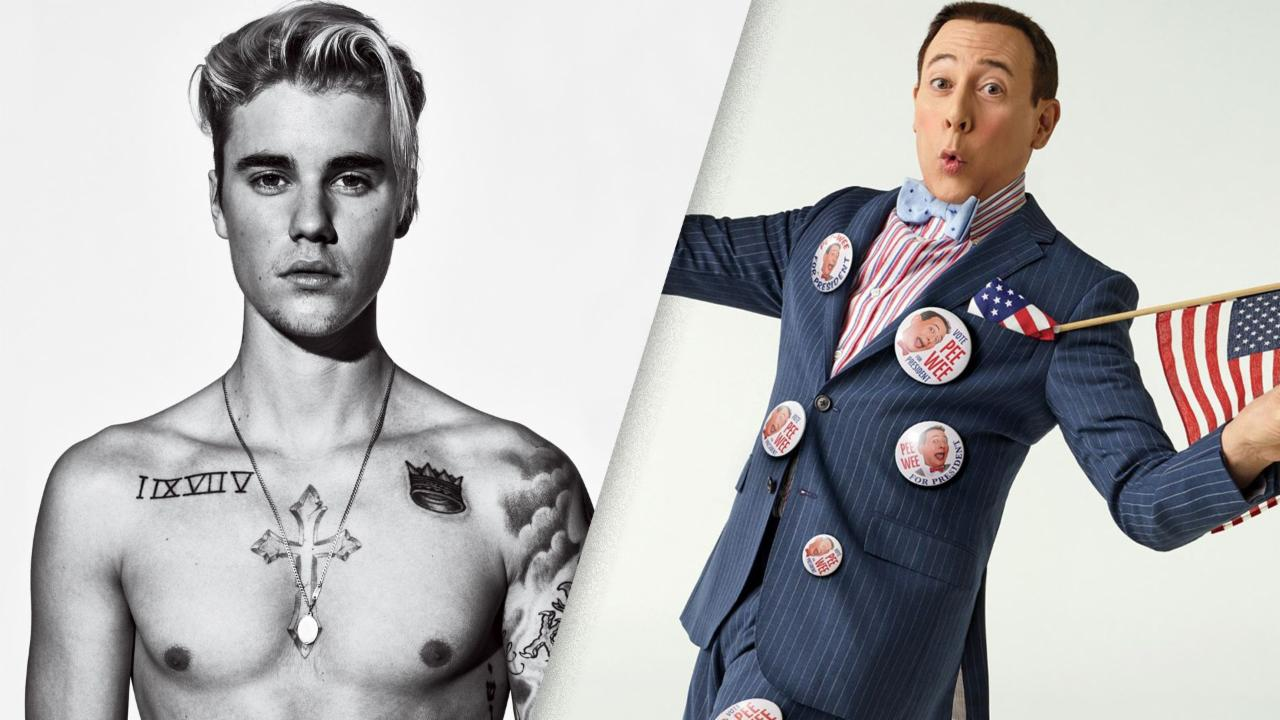The Justin Bieber Tattoo Tour, Brought to You By... Pee-wee Herman