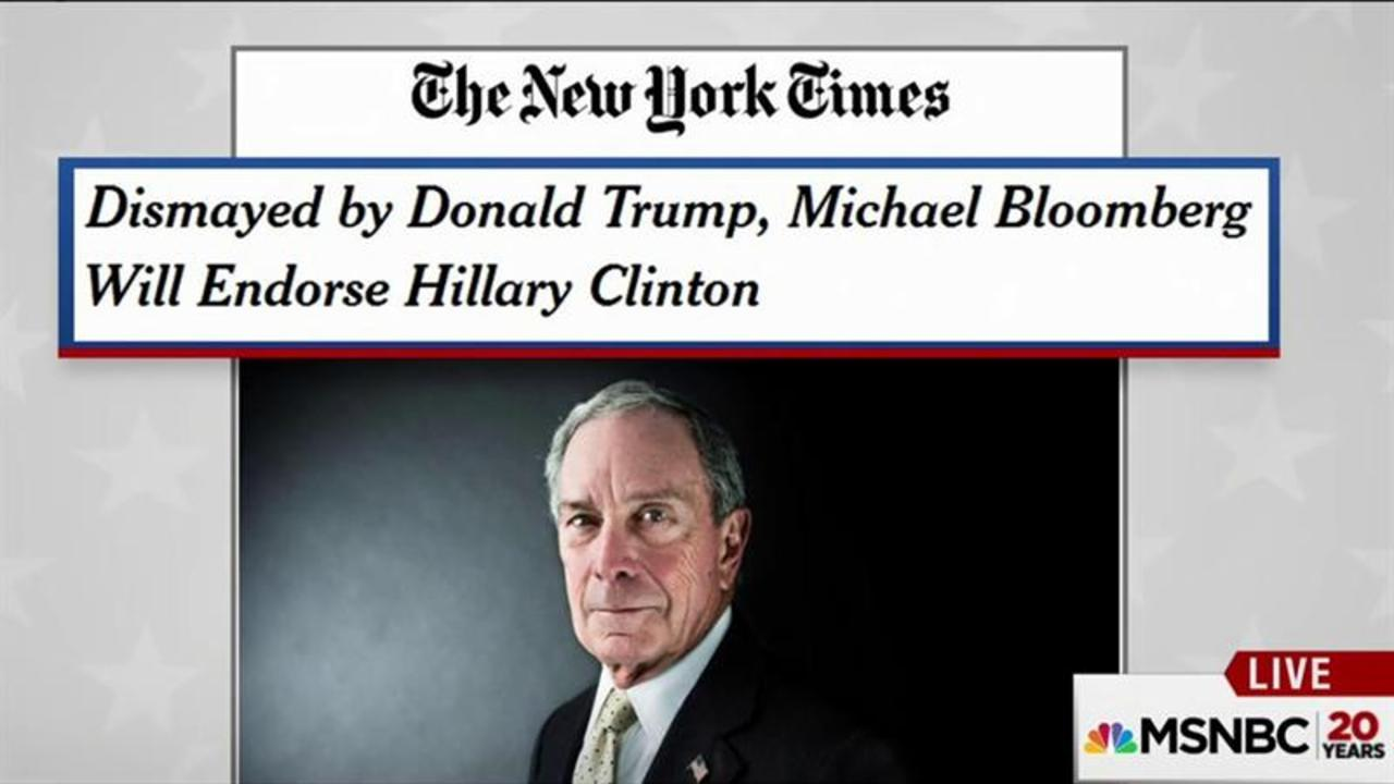 Michael Bloomberg to endorse Clinton: NYT