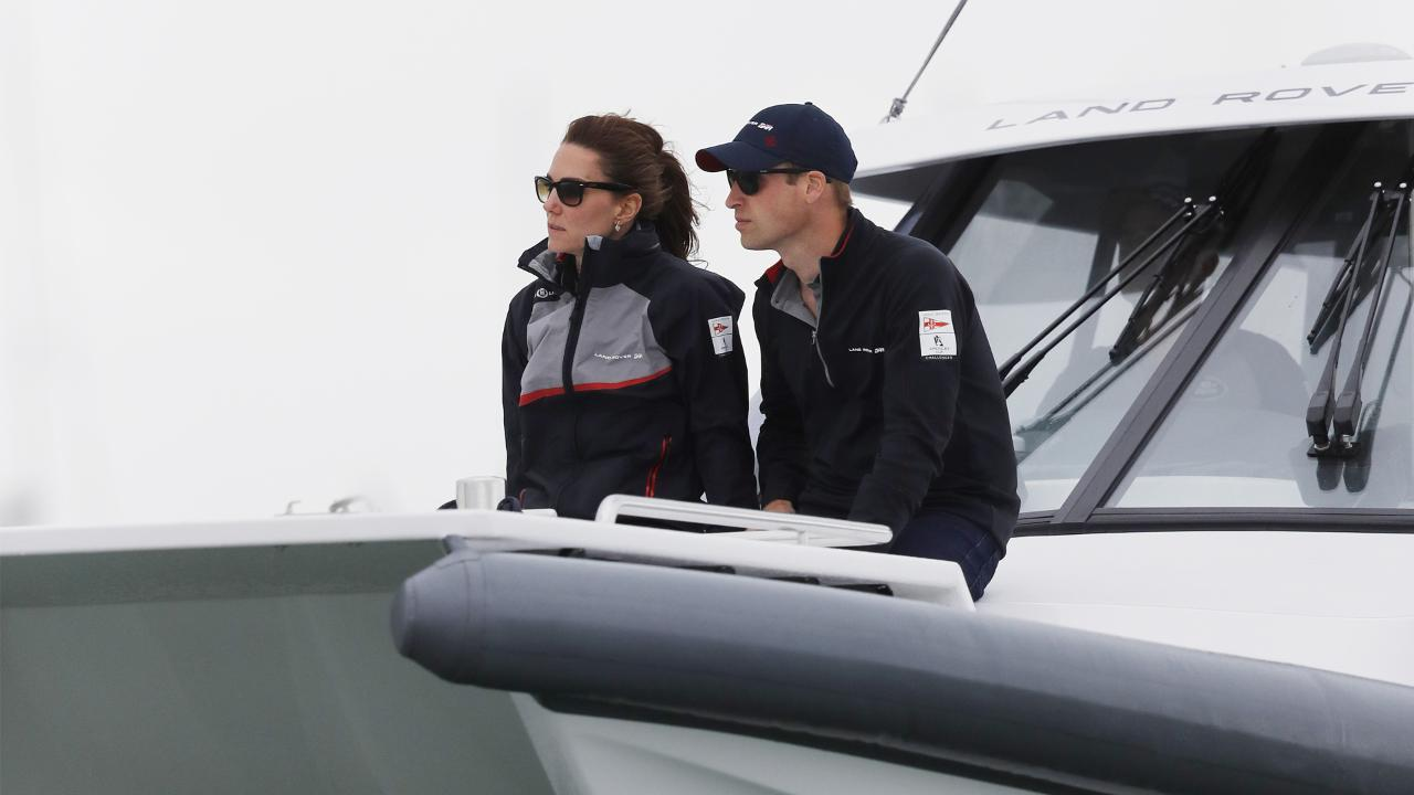 Prince William Attends America's Cup Event with Kate