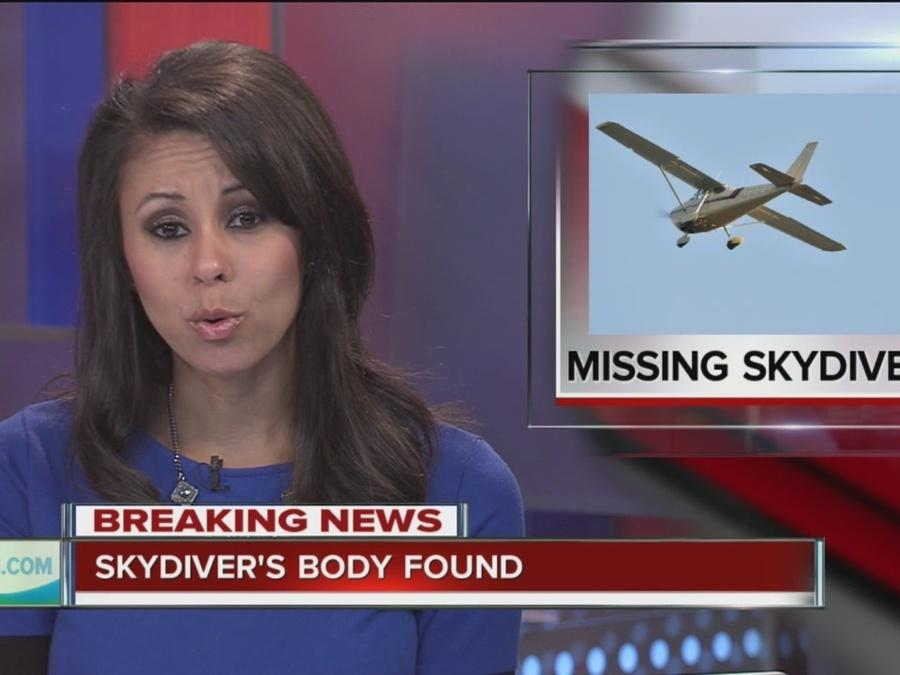 Body of missing skydiver found near Cushing