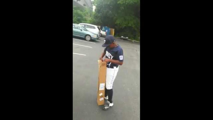 Father Surprises Son With Baseball Bat for His Birthday