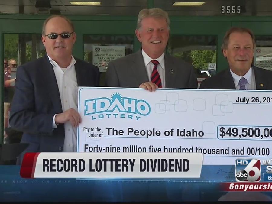 Idaho Lottery returns record dividend