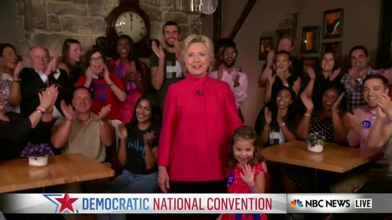 Hillary Clinton Delivers Message to Young Girls