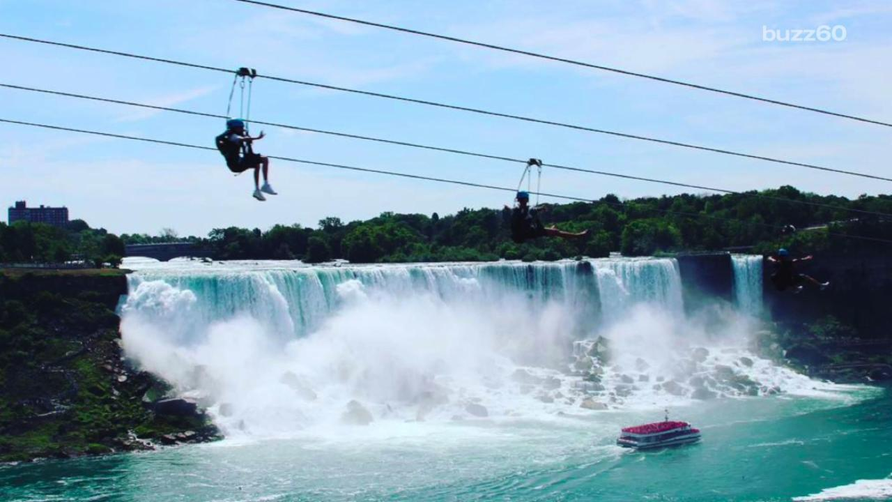 Terrifying New Zipline has the Best Vantage Point of Niagara Falls