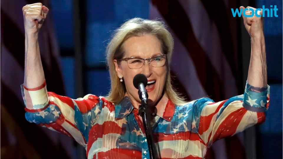 Meryl Streep Loves Her American Flag Dress