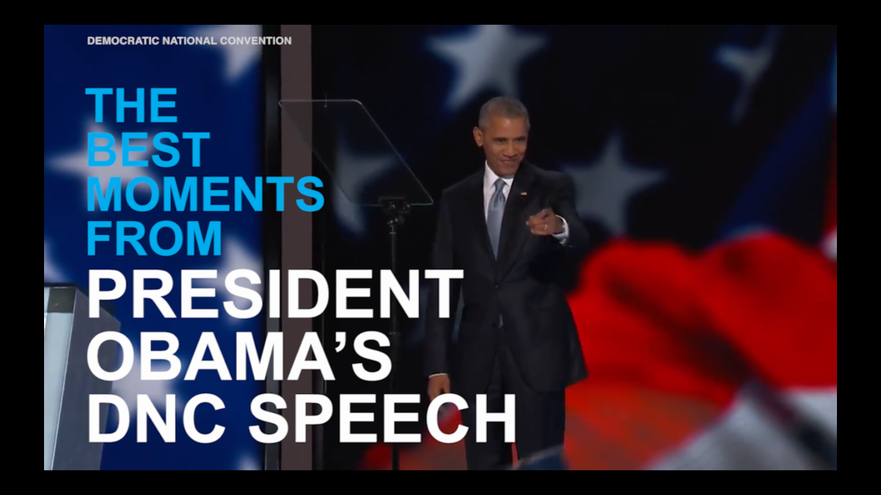 The best moments from President Obama's DNC speech