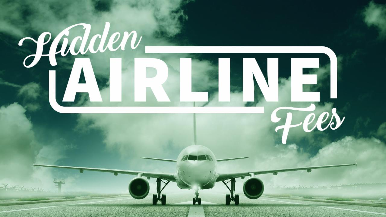 Hidden Fees Airlines Charge You