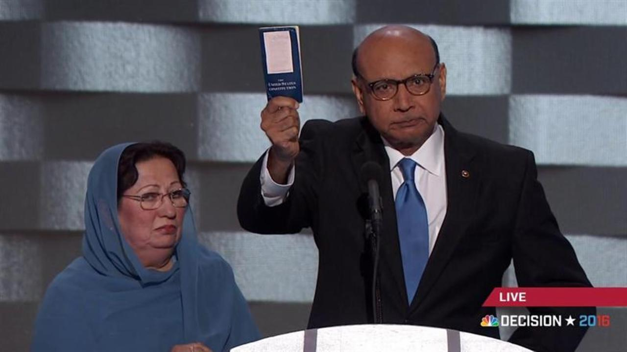 "Khizr Khan asks Trump: ""Have you even read the U.S. Constitution? I will gladly lend you my copy"""