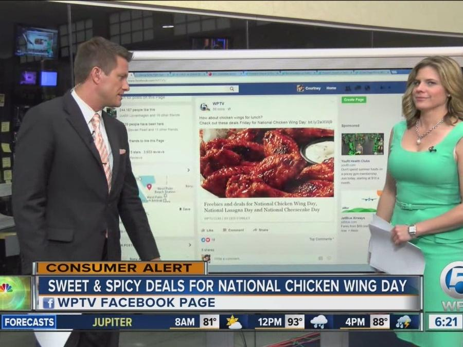 Sweet deals for National Chicken Wing Day!
