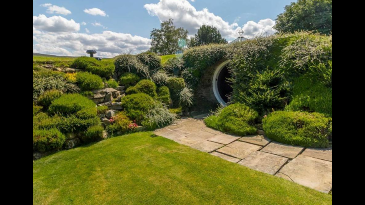 This odd, underground hobbit home might be the sanctuary of your dreams