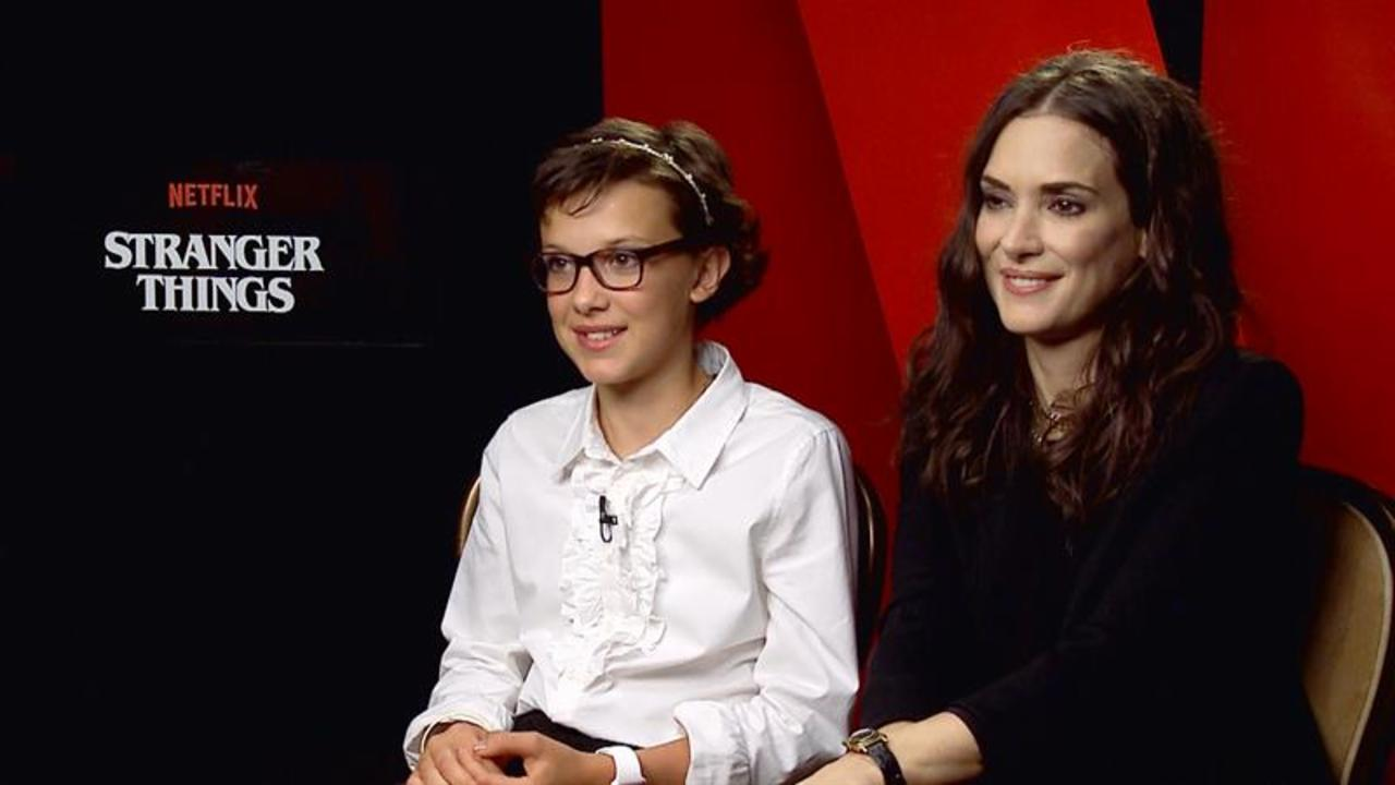 Winona Ryder and Millie Bobby Brown on 'Stranger Things' Success