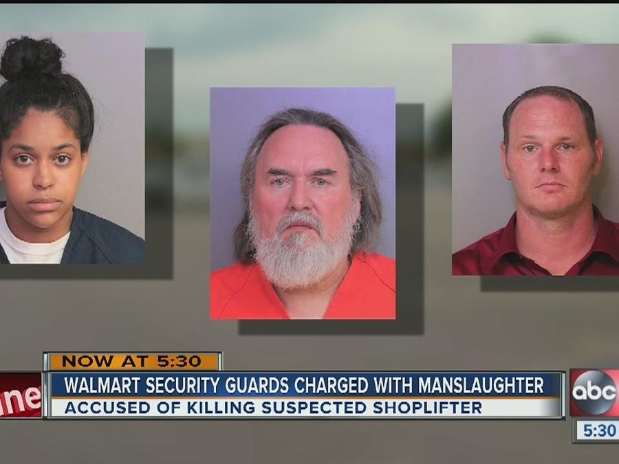 Three Lakeland Walmart employees charged with shoplifter's death