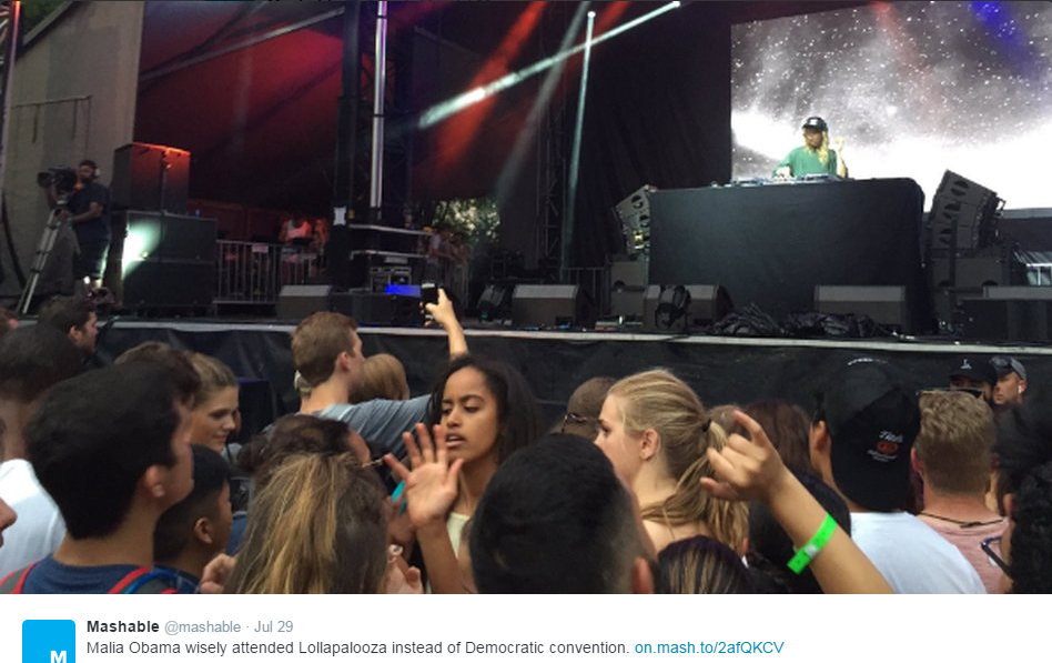 Watch Malia Obama twerk at Lollapalooza!