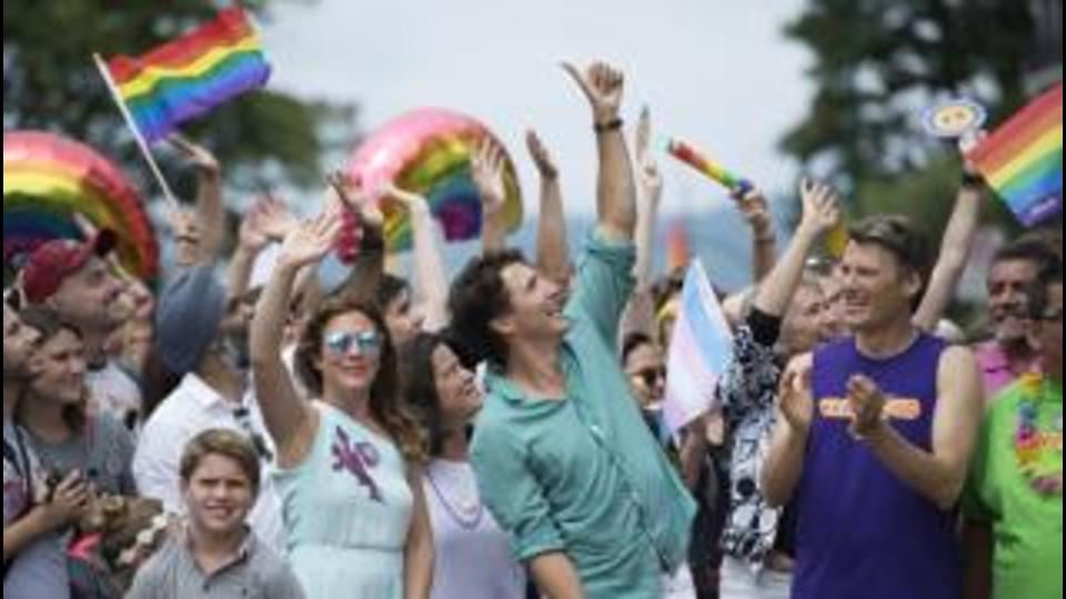 Justin Trudeau first PM to march in Vancouver Pride parade