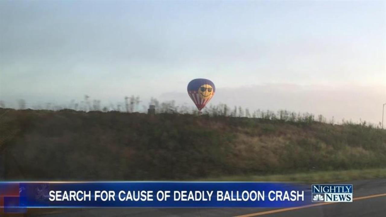 Investigators: Hot Air Balloon Likely Hit Power Lines Before Deadly Crash