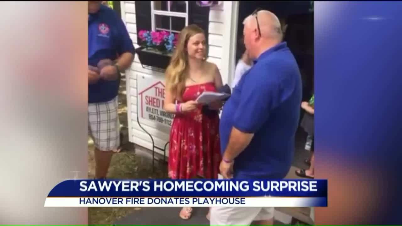 Firefighters Pull Off Sweet Surprise for Little Girl Battling Cancer