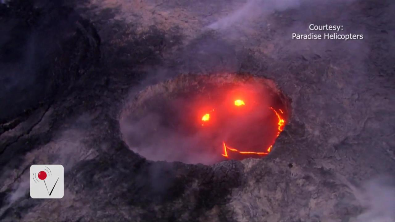 Hawaiian Volcano Cracks A Smile