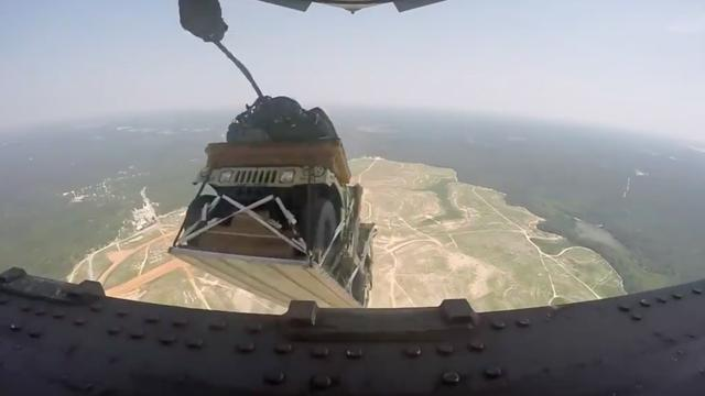 Humvees Getting Dropped From Air Is Pure Video Bliss