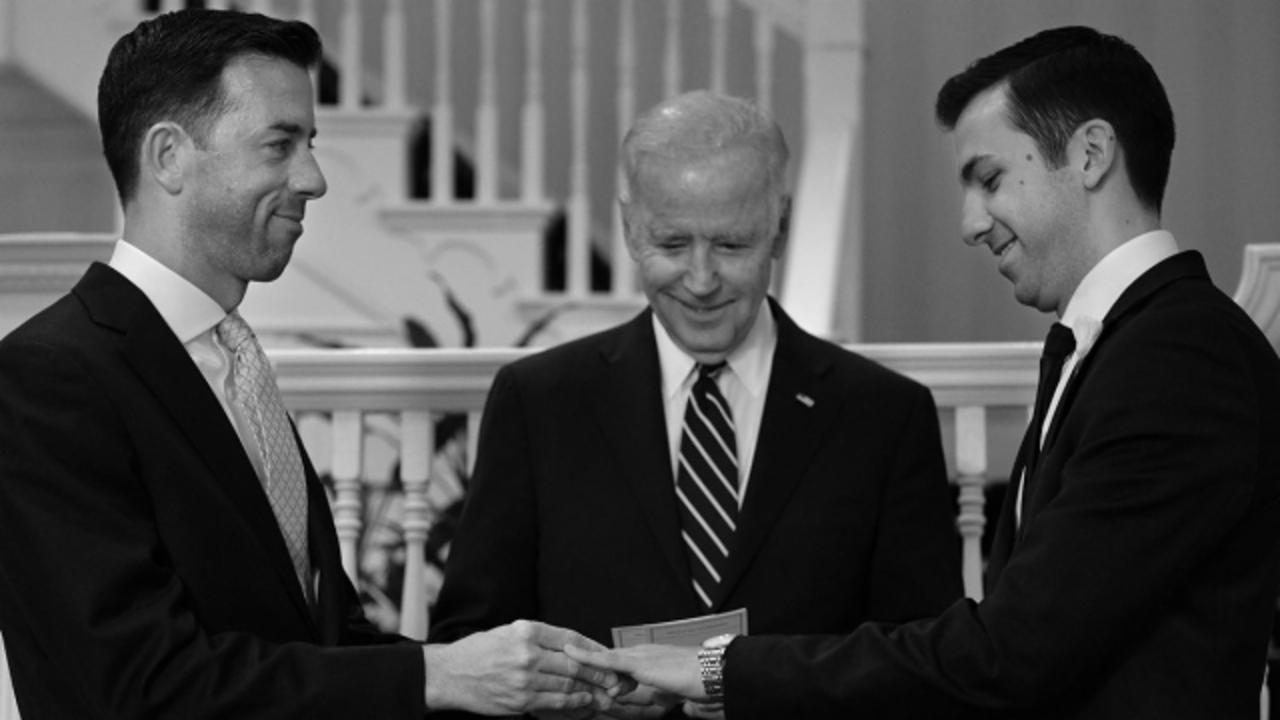 VP Joe Biden Just Officiated His First Wedding for a Same-Sex Couple