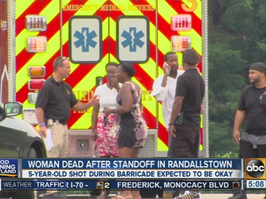 Woman dead after standoff in Randallstown