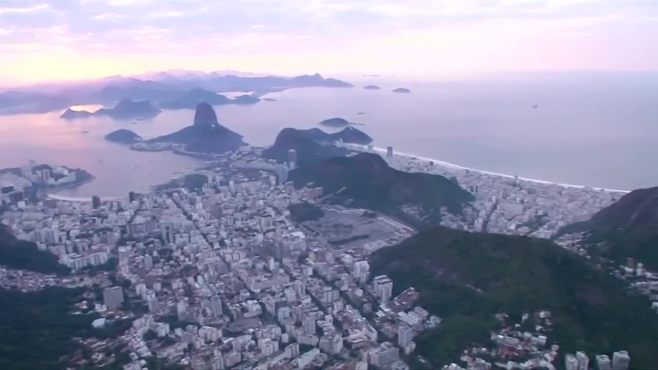 Aerial shots of Rio as the city prepares for the Olympics