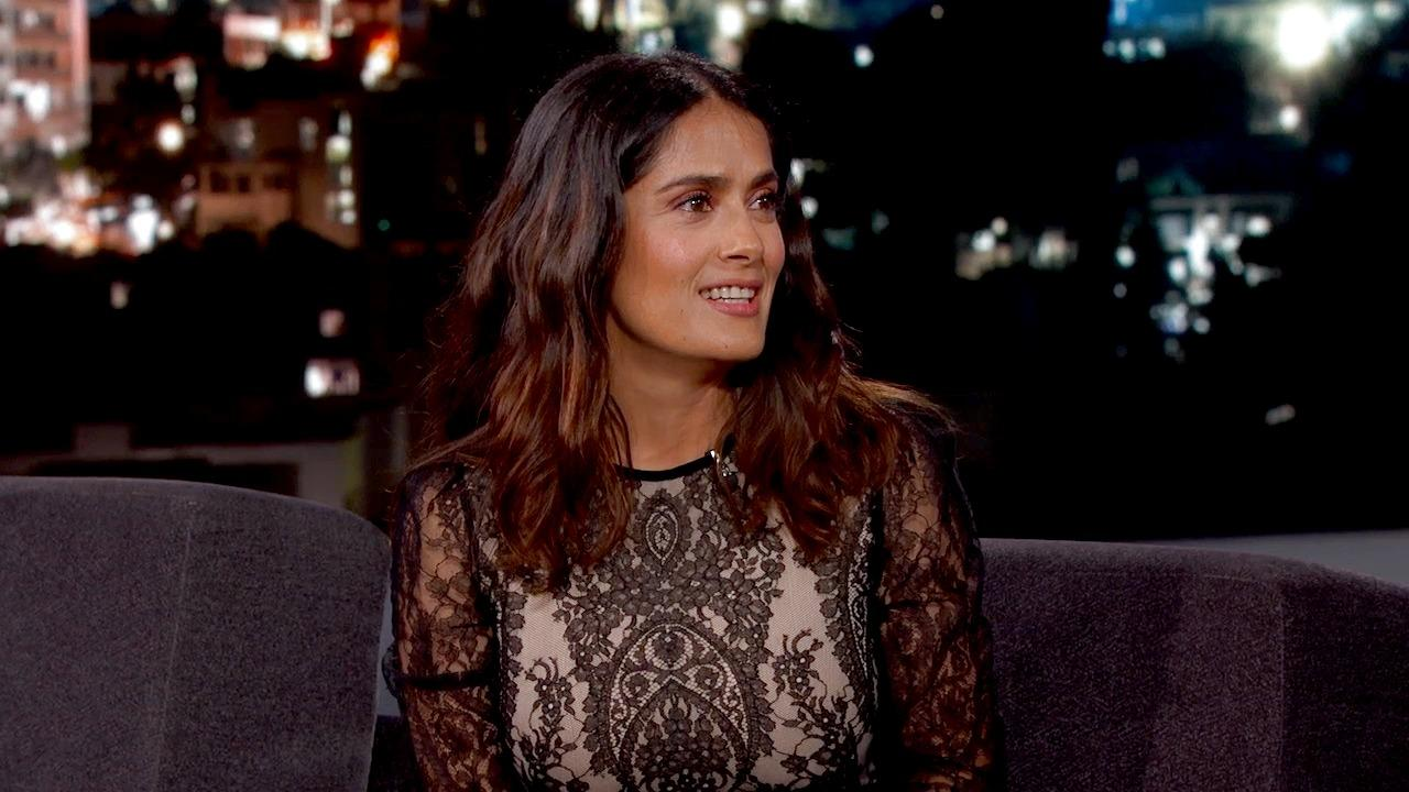 Salma Hayek Roots for Mexico