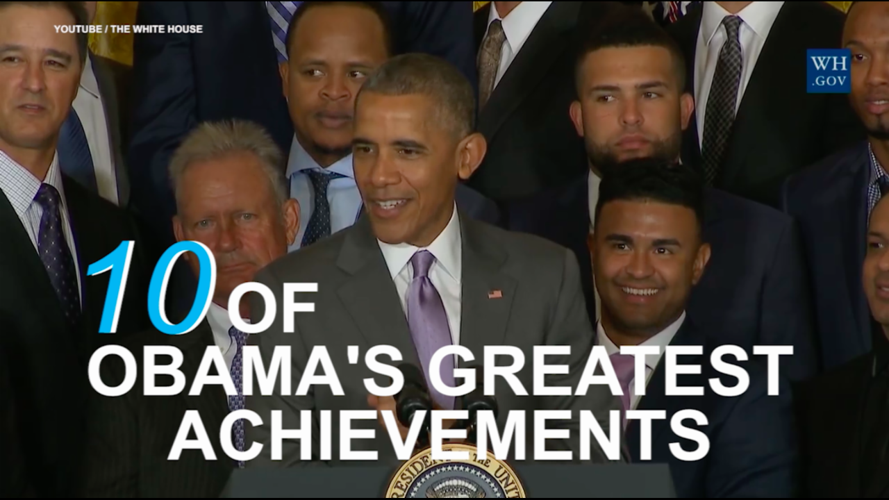 Ten of Obama's greatest accomplishments