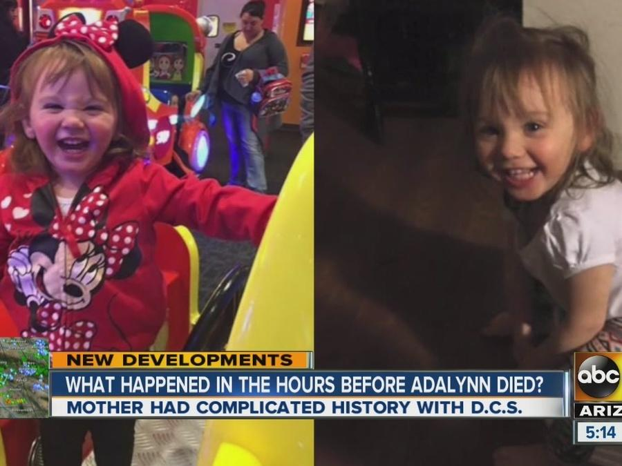 What happened in the hours before Adalynn died?